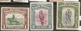 North Borneo  1939  SG  303-5  Mounted Mint - North Borneo (...-1963)