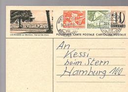 LES RASSES Winterthur > Hamburg (658) - Ganzsachen