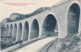*** 13  ***  MARSEILLE   L'estaque Chemin Du Littoral Et Viaduc De La Corbiere  Neuve TTB - Marseille
