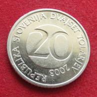 Slovenia 20 Tolarjev 2003 KM# 51  Eslovenia Slovenija Slovenie - Slovenia