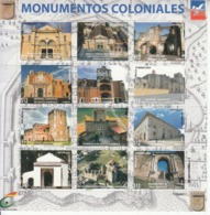 2017 Dominican Republic Dominicana Colonial Architecture Buildings Miniature Sheet Of 12  MNH - Dominicaanse Republiek