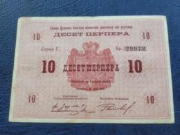 Montenegro Yugoslavia 10 Perpera 1914. - Jugoslawien