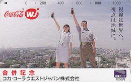 Carte Prépayée Japon - Boisson COCA COLA - COKE Japan Tosho Card Prepaid Karte - 4210 - Publicité