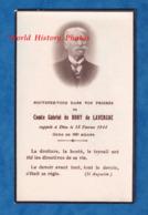 Faire Part De Décés - Comte Gabriel De BONY De LAVERGNE Décédé Le 18 Février 1944 - Né Vers 1858 - Décès