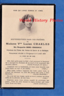 Faire Part De Décés - PERIGUEUX - Marguerite BONIS CHARANCLE épouse De Lucien CHARLES - Veuves De Guerre De Dordogne - Décès