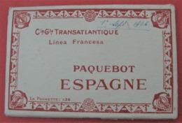 PAQUEBOT ESPAGNE 10 Cartes Dans Pochette 1926 - Bateau - Paquebote