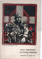 AVRANCHES PROGRAMME CONGRES DEPARTEMENTAL DES ANCIENS COMBATTANTS 1936 DESSIN Rocher De Gérigné - Avranches