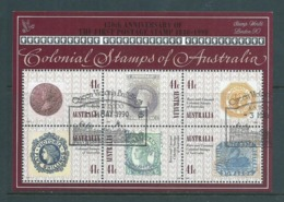 Australia 1990 Colonial Stamps Miniature Sheet London Stamp World Overprint FU - 1990-99 Elizabeth II