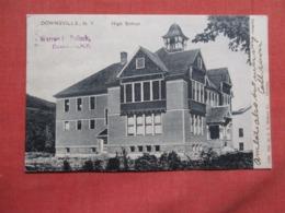 High School  Downsville    New York .  Ref 3619 - NY - New York