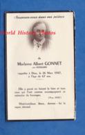Faire Part De Décés Avec Photo - Madame Albert GONNET Née ROISSARD Décédée Le 26 Mars 1947 - Secteur Myans Savoie - Décès