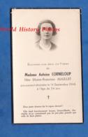 Faire Part De Décés - LA CLAYETTE Ou Environs - Marie Francine MAILLET épouse D' Antoine CORNELOUP Décédée En 1946 - Décès