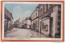 Carte Postale 37. Ciran  Les Galeries Cirantaise  La Rue Principale Coiffeur    Trés Beau Plan - Other Municipalities