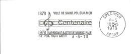 FLAMME SPECIMEN SECAP FRANCE St Pol Sur Mer Harmonie Batterie Municipale PORTEE NOTE FANFARE MUSIC MUSIK MUZIEK - Muziek
