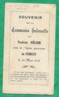 Forest-en-Cambrésis (59) Paulette Héloir Communion Solennelle 2scans 29-05-1938 11,2 X 6,4 Cm - Images Religieuses