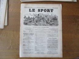 LE SPORT DU 12 JUILLET 1890 LES DEUX CRACKS DE L'ECURIE R.PETIT SUCRE D'ORGE ET MALGACHE,FIELD TRIALERS FRANCAIS,LA VIE - Livres, BD, Revues