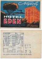Carte De Visite Couleur Hôtel EDEN - NAPOLI - Cartes De Visite