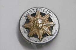 Insigne Pucelle Militaria AUSTERLITZ 8è Régiment D'Artillerie - Armée De Terre