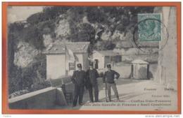Carte Postale Frontière  Vintimiglia Grimaldi Poste De Douane Franco-Italien Douaniers ***RARE***  Trés Beau Plan - Douane