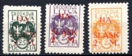 LITUANIE CENTRALE - (Occupation Polonaise) - 1921 - N° 37 à 41 Et 37 Non Dentelé - (Armoiries De 1920-21 Surchargés) - Lituania