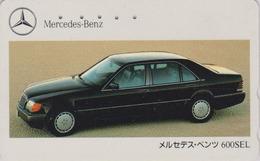 Télécarte Japon / 110-011 - VOITURE -  MERCEDES 600 SEL -  CAR Japan Phonecard / Germany - AUTO TK - 3355 - Automobili