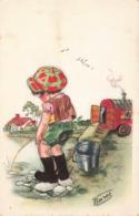 R208479 Bouret. Little Boy Peeing. Postcard. 1973 - Cartoline