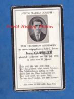 Faire Part De Décés Avec Photo - BASSE YUTZ ( Moselle ) - Jean GUISELER Décédé Le 14 Juillet 1936 - Photographe Schwarz - Décès
