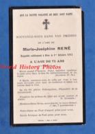 Faire Part De Décés - Marie Joséphine RENé Décédée Le 1er Octobre 1915 - Toul ? Chalons Sur Marne ? - Décès