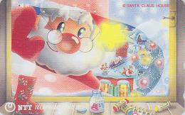 Télécarte Japon / NTT 111-048 - PERE NOEL Renne Traineau - CHRISTMAS SANTA CLAUS Japan Phonecard / B - 375 - Noel