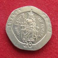 Gibraltar 20 Pence 2002 AA KM# 777 *V1  Gibilterra - Gibraltar