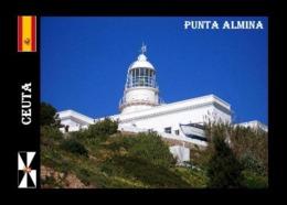 Ceuta Punta Almina Lighthouse North Africa New Postcard - Ceuta