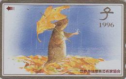Télécarte Dorée Japon / 110-170907 - ZODIAQUE Chinois - SOURIS Parapluie - MOUSE Horoscope Japan Gold Phonecard MAUS - Zodiaque
