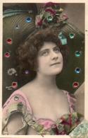 Artiste Femme 1900 - Guerita, Chapeau Strass Paillettes - Cabaret