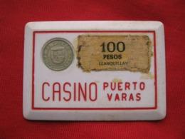 Chile  Ficha  Chip 100 Pesos Casino De Puerto Varas - Casino