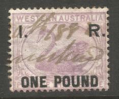 WESTERN AUSTRALIA. INLAND REVENUE £1. - 1854-1912 Western Australia
