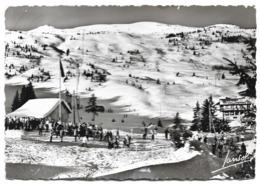 Cpsm 73 Courchevel - Rassemblement De L'école De Ski Et Les Pentes De La Loze (Cachet Daguin 1953) - Edition Jansol - Courchevel
