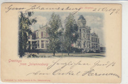Greetings From Johannesburg - 1898 Ganzsache Nach Meisenheim - Südafrika