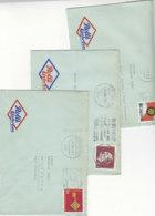 Drei Briefe Von ROLLI EISKREM Aus DORTMUND Von ..Eiswerke Dortmund-Lindenhorst Nach Thaden Post Itzehoe - Briefe U. Dokumente