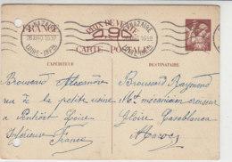 Ganzsache Aus ST.NAZAIRE 26.12.40 Nach Casablanca/Maroc - Francia