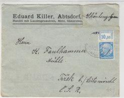 SUDETEN - Fa.Brief Aus POSTAMT ABTSDORF Nach Trzek B. Leitmühl - Occupation 1938-45