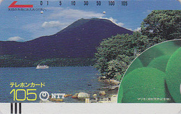 Télécarte Ancienne Japon / NTT 430-012 - LAC & MONTAGNE - MOUNTAIN & LAKE JAPAN Front Bar Phonecard / TBE - Balken TK - Japon