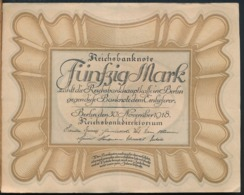 °°° GERMANY REICHSBANKNOTE - 50 FUNFZIG MARK 1918 °°° - [ 3] 1918-1933: Weimarrepubliek