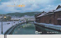 Télécarte Ancienne Japon / NTT 430-019 - Village Sous La Neige - JAPAN Front Bar Phonecard / TBE - Balken TK - Japan