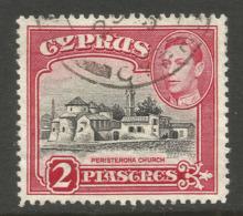 CYPRUS. GVI. 2pi USED - Cyprus (...-1960)