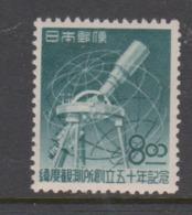 Japan SG555 1949 50th Anniversary Of Establishment Of Latitude Observatory Mizusawa Mint Hinged - 1926-89 Emperor Hirohito (Showa Era)