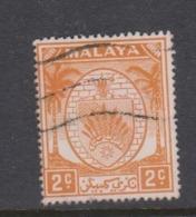 Malaya-Negri Sembilan Scott 39 1949 Arms 2c Orange,used - Negri Sembilan