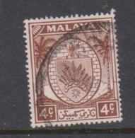 Malaya-Negri Sembilan Scott 41 1949 Arms 4c Chocolate,used - Negri Sembilan