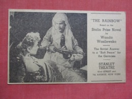 The Rainbow    The Soviet Answer To A Soft Peace For Germans  Stanley Theatre NYC    Ref 3619 - Theatre