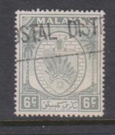 Malaya-Negri Sembilan Scott 43 1949 Arms 6c Grey,used - Negri Sembilan