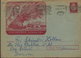 MOISSONNEUSE - BATTEUSE,La Moissonneuse, Epi    Entier Postal 1958 Lettre - Roumanie / Romania - Landbouw