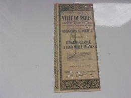 VILLE DE PARIS (1942) - Actions & Titres